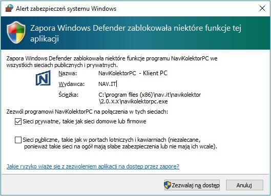 Instalacja-NaviKolektor-Klient-PC-Zapora-Windows-9